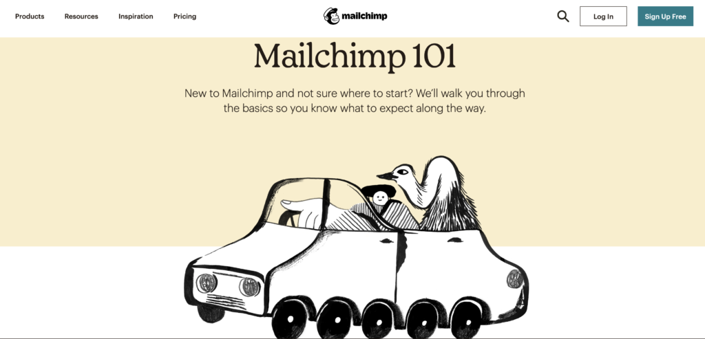 Mailchimp uses quirky imagery for excellent branding